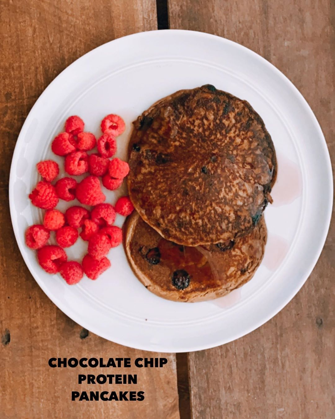 Making Chocolate Chip Protein Pancakes